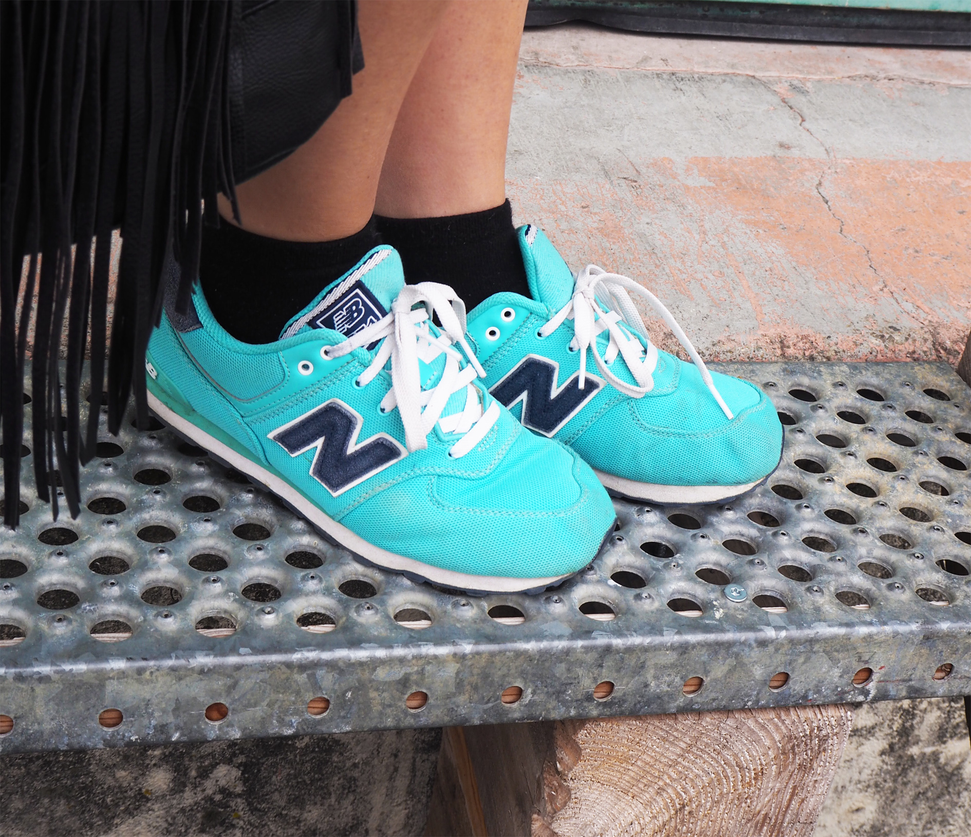 perfecto cuir details look baskets new balance