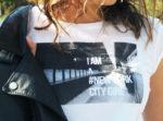 photoprint cache cache tee shirt mode femme fashion perfecto cuir