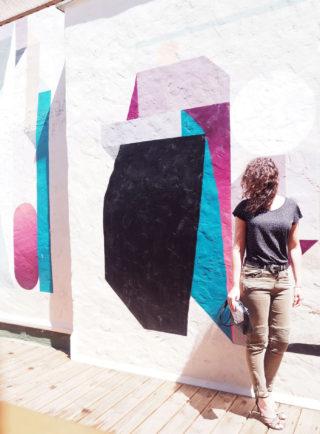 esprit libre art arty tee shirt basique look girl femme women pantalon kaki pimkie