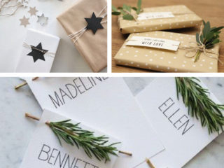 noel paquets cadeaux gît porte nom avec amour with love idée déco cadeaux de noel sapin etoile scrapbooking do it yourself